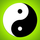 Yin and Yang symbol — Stock Photo