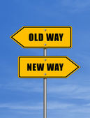 Old way - new way — Stock Photo