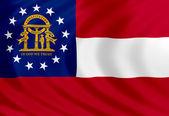 Georgia flag of silk — Stock Photo