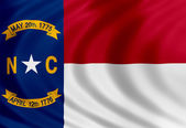 North Carolina flag of silk — Stock Photo
