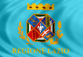 Lazio flag of silk — Stock Photo