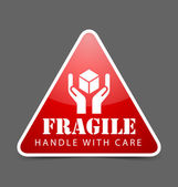 Fragile icon — Stock Vector