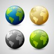 Earth icons — Stock Vector