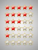 Rating yıldız — Stok Vektör
