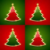 Christmas tree seamless pattern — Stock Vector