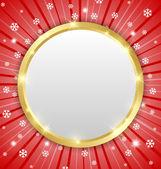 Christmas winter plaque — Stock vektor