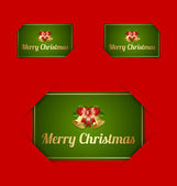 Merry Christmas card holders — Stock Vector
