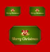 Merry christmas card houders — Stockvector