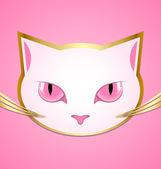 White cat head — Stock Vector