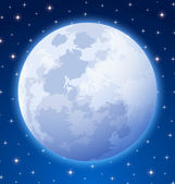 Full moon — Vector de stock