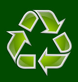 Recycle symbol icon — Stock Vector
