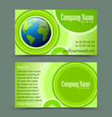 Globe theme business card — Stock Vector