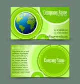 Globe theme business card — Stock Vector