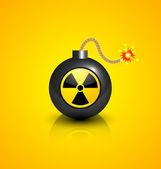 Zwarte nucleaire bom — Stockvector