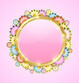 Flower bubble template — Stock Vector