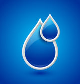Water drops icon — Stock Vector