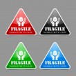Fragile icons — Vector de stock #19055813