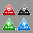 Fragile icons — Stock Vector