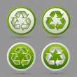 Stock Vector: Recycle symbol badges