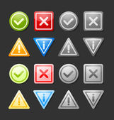 Notification icons — Stock Vector