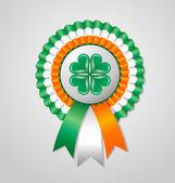 Saint Patrick's Day Irish rosette — Stock Vector