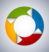 Circle web design element — Stock Vector