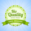 Stock Vector: Bio Quality label