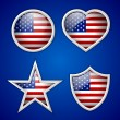American badges — Stock Vector