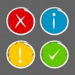 Stock Vector: Notification icons