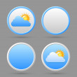 Stock Vector: Weather icons and blank templates