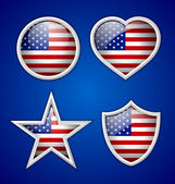 American badges — Stock Vector
