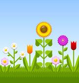 Flower garden — Stock Vector