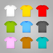 Simple T-shirt templates — Stock Vector