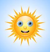可爱太阳字符 — 图库矢量图片