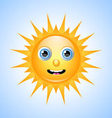 Roztomilý slunce charakter — Stockvektor