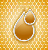 Honey drops icon — Vector de stock