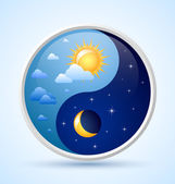 Day and night symbol — Stock Vector