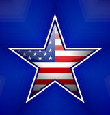 American star badge — Stock Vector