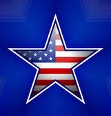 American star badge — Stock Vector
