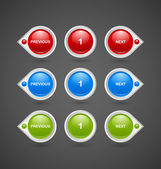 Pagination buttons — Stock Vector