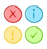 ícones de notificação — Vetor de Stock
