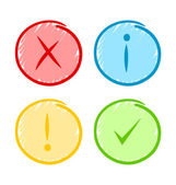Icônes de notification — Vecteur
