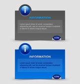 Finestre di notifica informazioni — Vettoriale Stock