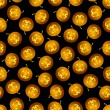 Vector de stock : Seamless Halloween pumpkin pattern