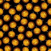 Seamless Halloween pumpkin pattern — Stock Vector