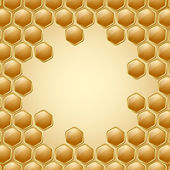 Honeycomb background — Vector de stock