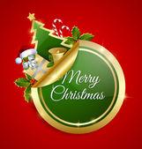 Merry Christmas sticker — Stock Vector