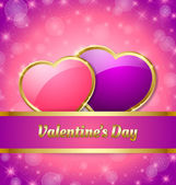 Valentine's Day card template — Stock Vector
