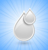 Milk drops icon — Vector de stock