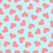 Valentine's heart seamless pattern — Stock Vector